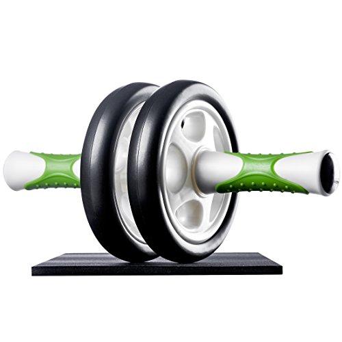 Ultrasport AB Roller Bauchtrainer, Bauchmuskeltrainer, Muskelaufbau und Abnehmen an Bauch Beine Po – Bauchroller inklusive Knieauflage und Trainingsanleitung, Grün