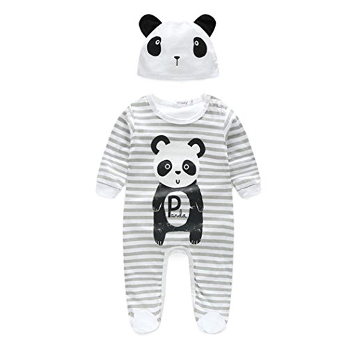 Koly Newborn Baby Clothing Sets Animal Rompers With Hat Long Sleeve Jumpsuits