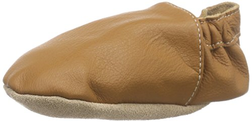 Hobea Germany Chaussons Bébé en Cuir Doux Single-Couleur Design Marron (nougat)