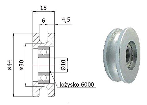 Zabi Metallprofilrollen d=44mm/6 mit Lagerung
