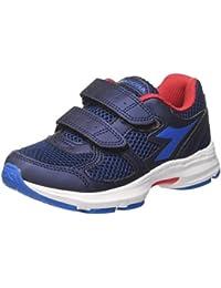 Diadora Basket II Jr Sneaker a Collo Alto, Bambini e Ragazzi, Blu (Estate blu/Directoire blu), 31 EU (12.5 UK)
