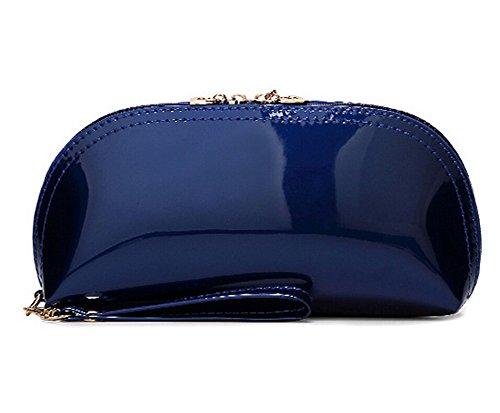 Porta Documenti Borse in pelle Donna Portafoglio Portamonete Borsello Donne blu