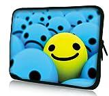 Luxburg® design housse sacoche pochette pour ordinateur portable 10,1 pouces, motif: Souriant