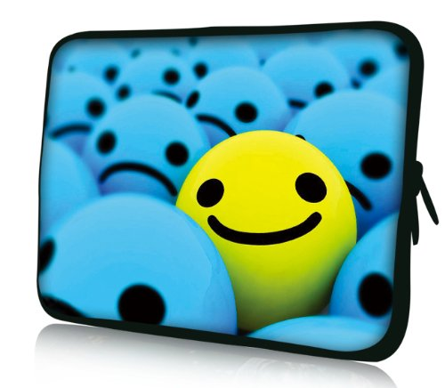 Luxburg® Design Laptoptasche Notebooktasche Sleeve für 17,3 Zoll, Motiv: Strümpfe Smiley Highlight