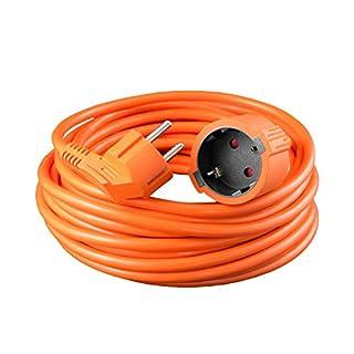 benon B2132 Verlängerungskabel Schuko, 20m Orange, inkl. Schutzkontakt & Schutzleiter
