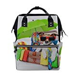 Happy Suitcase Dog Puppy Wickeltaschen mit großer Kapazität Mummy Backpack Multi Functions Wickeltasche Tote Handtasche Für Kinder Babypflege Travel Daily Women