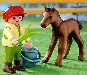 Playmobil - 4647 - La Vie à la ferme - Enfant / Ane