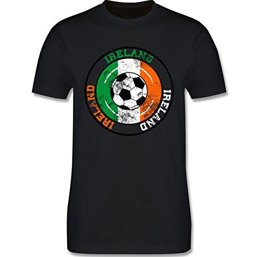EM 2016 - Frankreich - Ireland Kreis & Fußball Vintage - Herren Premium T-Shirt Schwarz