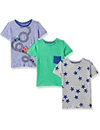 Mothercare Boy's Animal Print Baby T-Shirts (Pack of 3)