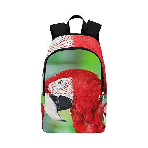 Portrait coloré Amazone Rouge Macaw Parrot Casual Sac À Dos Voyage Sac Collège Sac À Dos Universitaire pour Hommes Et Femmes