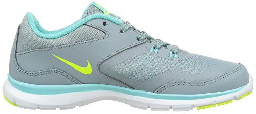Nike - Flex Trainer 4, Scarpe Da Ginnastica da donna Dove Grey/Light Aqua/Teal Tint/Volt