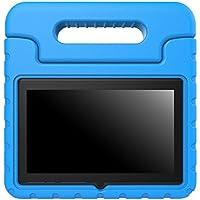 """MoKo Dragon Touch Y88X / JYJ 7 Pulgadas Funda - Ultra Ligero Kids Shock Proof Cover Case con Manija / Fución de Soporte para Dragon Touch Y88X / JYJ 7"""" y Yuntab Q88 Android Tablet, Azul"""