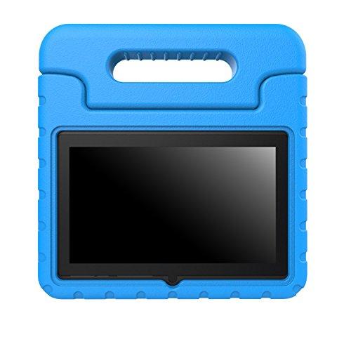 """MoKo Dragon Touch Y88X / JYJ 7 Zoll Hülle - Superleicht EVA Stoßfest Kinder Schutzhülle mit umwandelbarer Handle/Stand für JYJ Android Google 7"""" Tablet PC, Dragon Touch Y88X 7"""" und Yuntab Q88 7"""", Blau"""