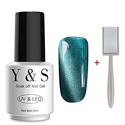 Y&S Gel Nail Polish Magnetic 3D Cat Eye Nail Art Varnish UV LED Gel Polish + Free Magnet Stick 8ML #01