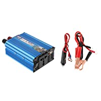 Baoblaze Solar Inverter 500W 12V DC to 220V AC Pure Sine Wave Power Inverter Converter Adapter Charger - Blue, 15x5.5x9.5cm