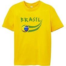 Supportershop–Brasil camiseta Supporter niño Amarillo amarillo Talla:4/5 años