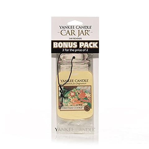 Yankee Candle 1201272 Pack de 3 Désodorisantes pour Voiture senteur Balsam and Cedar Novelty en jarre Multicolore