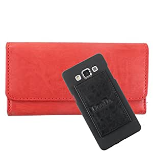 DooDa PU Leather Wallet Flip Case Cover With Card & ID Slots For Panasonic Eluga A - Back Cover Not Included Peel And Paste