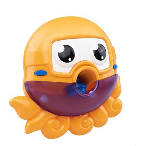 ZTSW Kinder Wasser Spielzeug Bad Baby Bad Spielzeug Kinder Spielen Bad dusche Sprinkler Bad Spielzeug Junge mädchen Cartoon Bubble Machine (Color : Yellow)