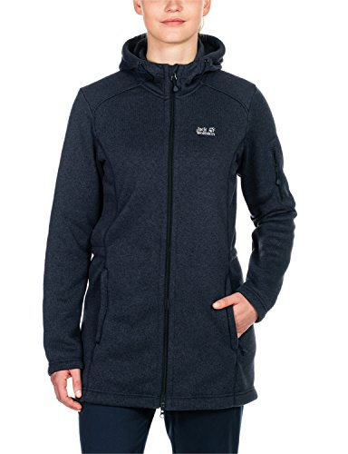 Jack Wolfskin Damen Fleeceparka Caribou Parka W, Night Blue, XL, 1703341-1010005
