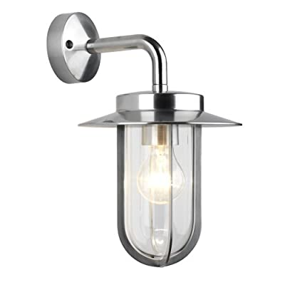 Astro 0484 E27 Montparnasse Wall Light excluding 1 x 60 Watt 230 V Bulb, Polished Nickel - low-cost UK light store.