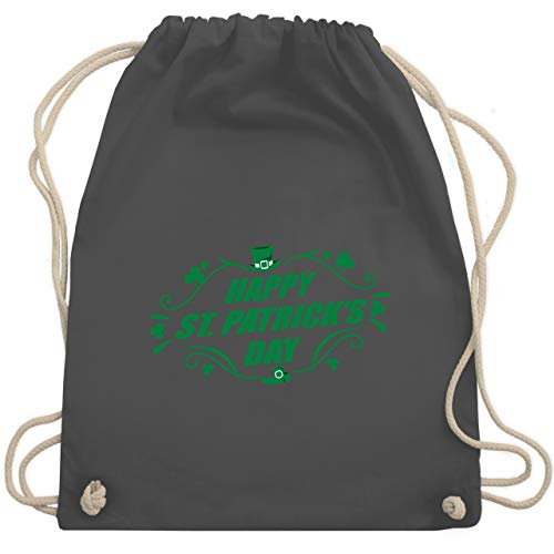 Einfach Kostüm Saints - St. Patricks Day - Happy St. Patrick's Day - Unisize - Dunkelgrau - WM110 - Turnbeutel & Gym Bag