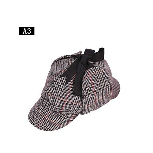 Inglaterra Sombrero unisex del detective de Sherlock Holmes Deerstalker, sombrero del gird / Herringbone de la golondrina, sombreros de la novedad del vestido de lujo