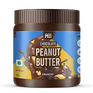 MuscleBlaze Chocolate Peanut Butter, Crunchy, 340g