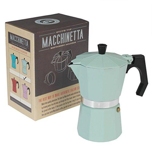 Klassische Espresso-Kaffeekanne - verschiedene Farben zur Auswahl mint