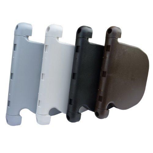 Rollladen Design 4,5mm Schnurwickler + 5m extrem Nylonschnur 180° schwenkbar für Rolladen und Jalousie mit 4,5mm Schnurzug, Aufputz Weiß -