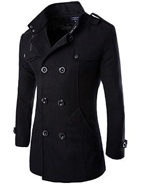 Hombres Otoño Invierno Doble fila Botón Abrigo Top Blusa Chaqueta Hombres Jacket Outerwear Tops Blazer
