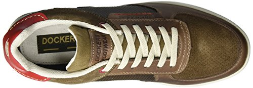 Dockers by Gerli 38au020-102427, Sneakers Basses Homme Marron (Stone/Rot 427)
