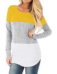 STRIR Camiseta De Mujeres Ropa para La Lactancia De Maternidad De Raya para  Mujeres Las Mujeres 7073b1d4f7d