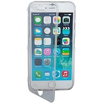 HQ-CLOUD Housse Etui Coque à Rabat Silicone Gel Tpu Pour Iphone 6 Plus,écran 5.5 pouces - Transparent + Un film de protection d'écran offert