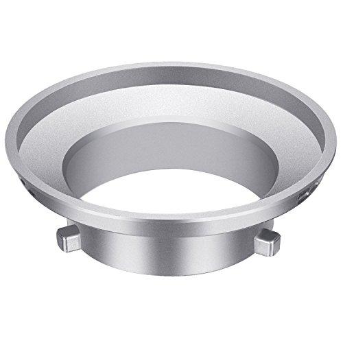 Neewer Softbox Speed Ring Adapter für Bowens Monolight Flash und weich Box–Aluminium Legierung, 9,7cm/9,6Zentimeter Innendurchmesser und 15cm/15Zentimeter Durchmesser Speed Ring-softbox