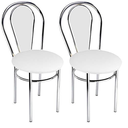 Impor Neuer Stuhl Tulipan Plus (Weiß, 2 Stücke) -