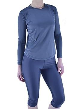 manga larga mujer Active Top Gimnasio Camiseta mujer capa base Atletismo Ropa Deportiva