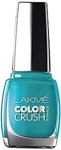 Lakme True Wear Color Crush Nail Color, Blue 27, 9ml