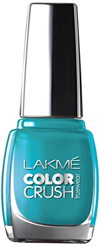 Lakme True Wear Color Crush Nail Color, Blue 27, 9 ml