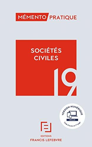 MEMENTO SOCIETES CIVILES 2019 par Collectif