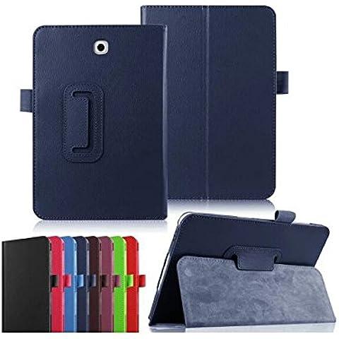 Ultra Slim Funda Piel Samsung Galaxy Tab a 10.12016/Tab A6WiFi/4G (T580/t585/t580N) móvil Azul Marina Cover con Stand–accesorios funda Tablet PC Carcasa XEPTIO Case (piel sintética