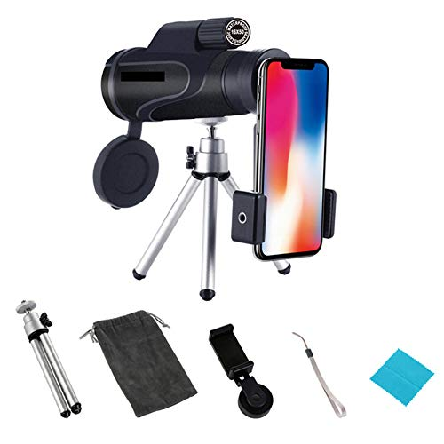 Telefon Kamera Objektiv 16 * 50 Monocular Teleskop wasserdicht + Stativ kompatibel mit iPhone X XS Max XR / 8/7/6 / 6s Samsung Android Outdoor-Reisen
