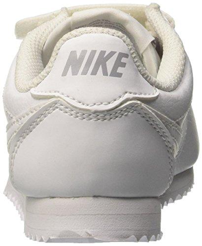 Nike Cortez (Psv), Chaussures de Sport Fille Blanc Cassé - Bianco (White/White-Wolf Grey)