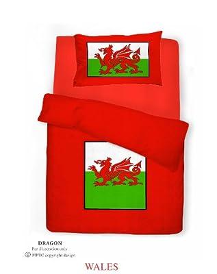 Single Bed Welsh Dragon Duvet / Quilt Cover Quality Bedding Set