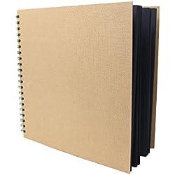 Artway Enviro - Quaderno da disegno - Quadrati ampi- 100% Riciclato - Carta / Cartone nero 285 x 285mm 30 pagine