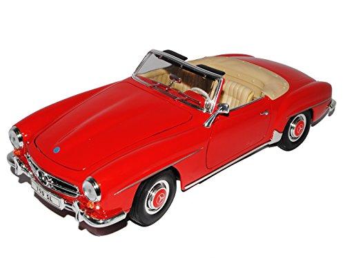 Welly Mercedes-Benz 190sl 190 Sl Cabrio Rot Offen W121 1955 1/18 Modellauto Modell Auto