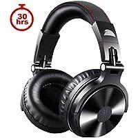 Auriculares Bluetooth OneOdio para DJ, 30 horas de tiempo de reproducción, inalámbricos/cableados