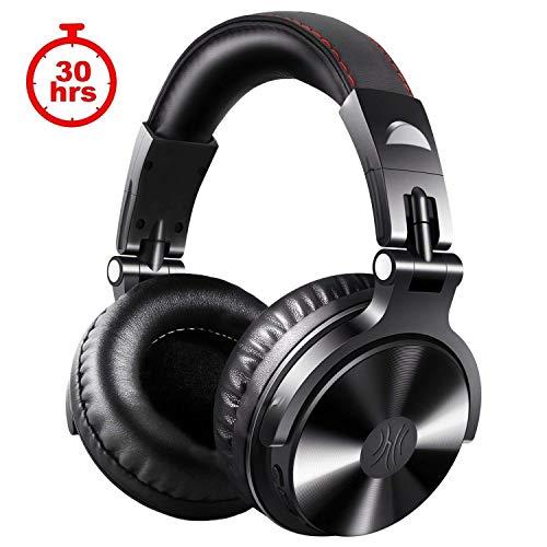 OneOdio DJ Kopfhörer, Studiokopfhörer, Over Ear Headset, Geschlossene Headphone Stereo/Studio Monitor & Mixing/Teleskoparme mit Skala/50mm Treiber (Schwarz)