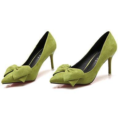 Da donna-Tacchi-Casual-Tacchi / A punta / Chiusa-A stiletto-Finta pelle-Nero / Blu / Verde / Rosa / Rosso / Grigio , green , us8.5 / eu39 / uk6.5 / cn40