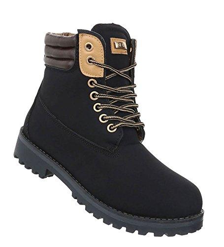 Schuhcity24 Damen Herren Unisex   Leicht Gefütterte Stiefeletten   Outdoor Worker Boots  ...